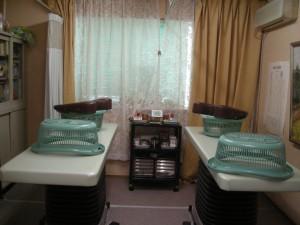 大掃除前の治療室
