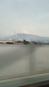 新幹線からみた富士山2016/03/13